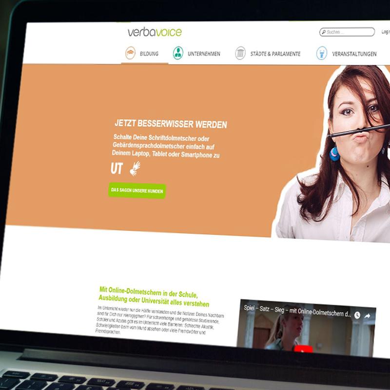 Refonte du site de VerbaVoice
